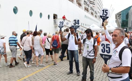 Mais de 43 mil turistas de cruzeiros devem chegar a Salvador até abril