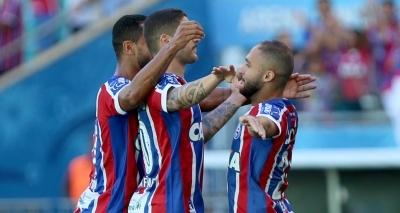 Com gol no fim, Bahia vence lanterna Atlântico por 2 a 1 na Fonte; time sai vaiado do estádio