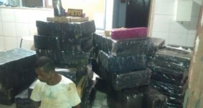Homem é preso com uma tonelada de droga em São Estevão