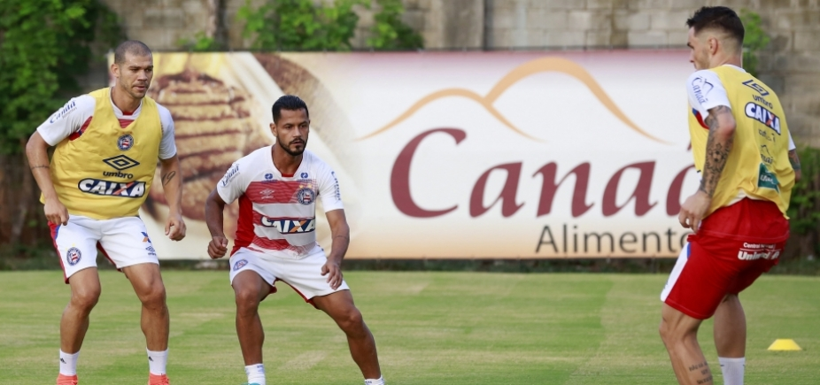 [Com Tiago em campo, Bahia inicia treinos para enfrentar o Timbu]