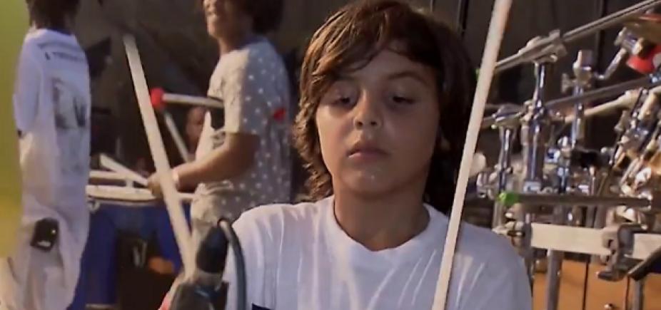 [Ivete compartilha vídeo do filho tocando bateria; assista]