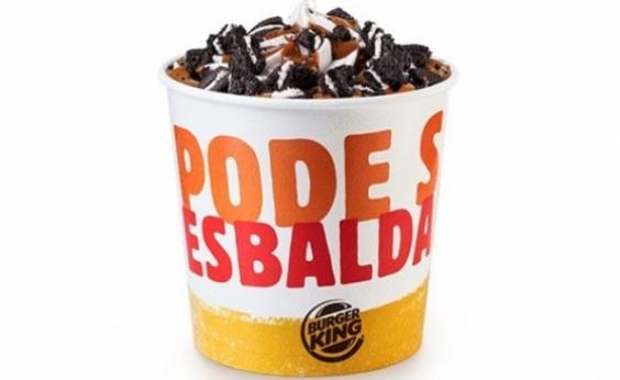 Deu vontade de se afogar no sorvete? Burger King lança balde de quase um litro!