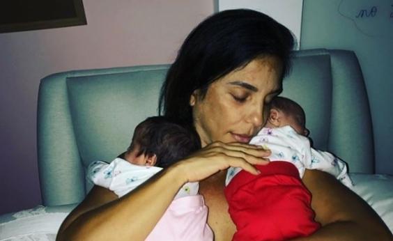 Ivete Sangalo publica momento fofo com as gêmeas