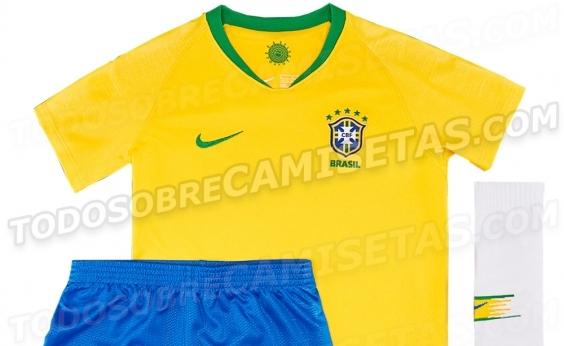 Site vaza nova camisa da Seleção Brasileira; confira