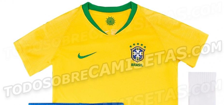 [Site vaza nova camisa da Seleção Brasileira; confira]