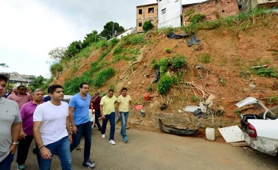 Quatro encostas de Salvador vão receber obras de contenção
