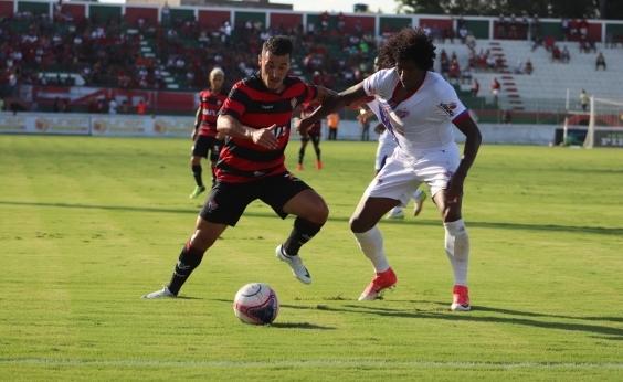 Vitória cede empate no fim em 1 a 1 com o Bahia de Feira