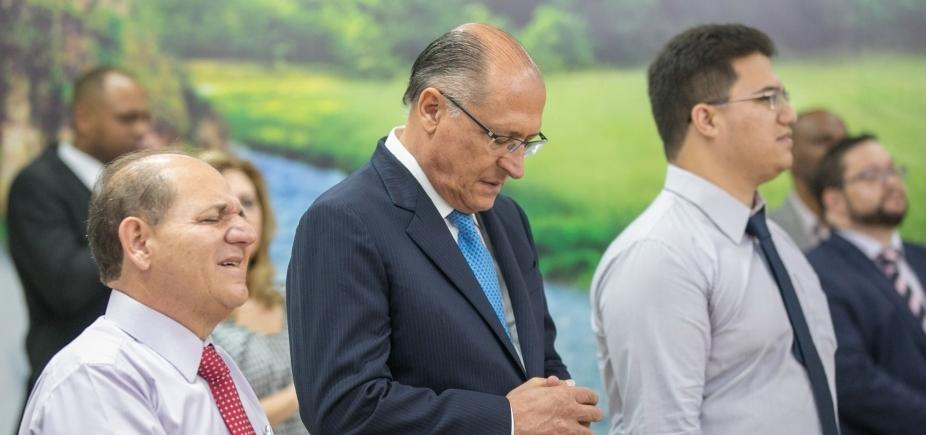[ ʹNão vou brigar com PT, vou olhar para o futuroʹ, diz Alckmin ]