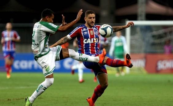 Em jogo com duas viradas e vaias contra Guto, Bahia goleia o Altos por 5 a 2