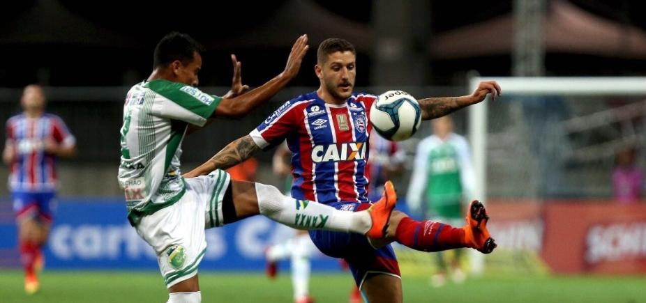 [Em jogo com duas viradas e vaias contra Guto, Bahia goleia o Altos por 5 a 2]