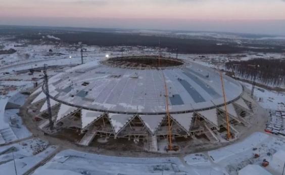 Estádio atrasado da Copa da Rússia preocupa Fifa