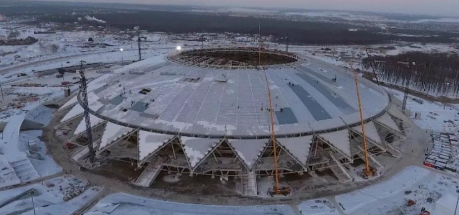 [Estádio atrasado da Copa da Rússia preocupa Fifa]