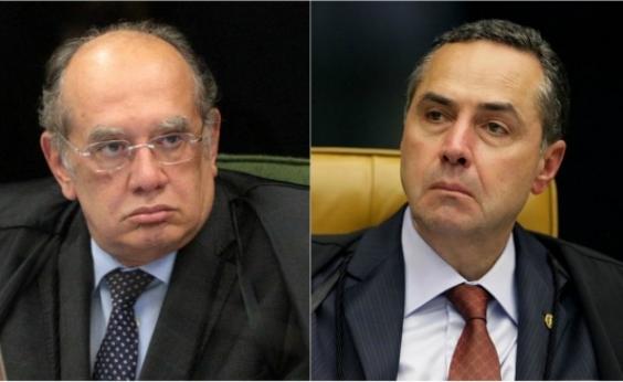 Após bate-boca entre Barroso e Gilmar Mendes, STF interrompe sessão