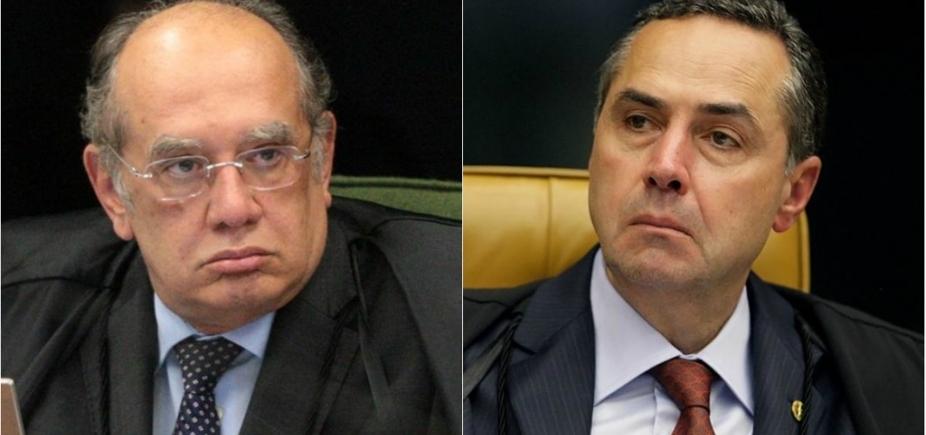 [Após bate-boca entre Barroso e Gilmar Mendes, STF interrompe sessão]