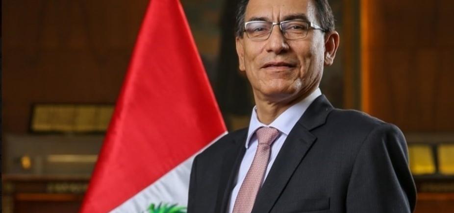 [Martín Vizcarra toma posse como presidente do Peru]