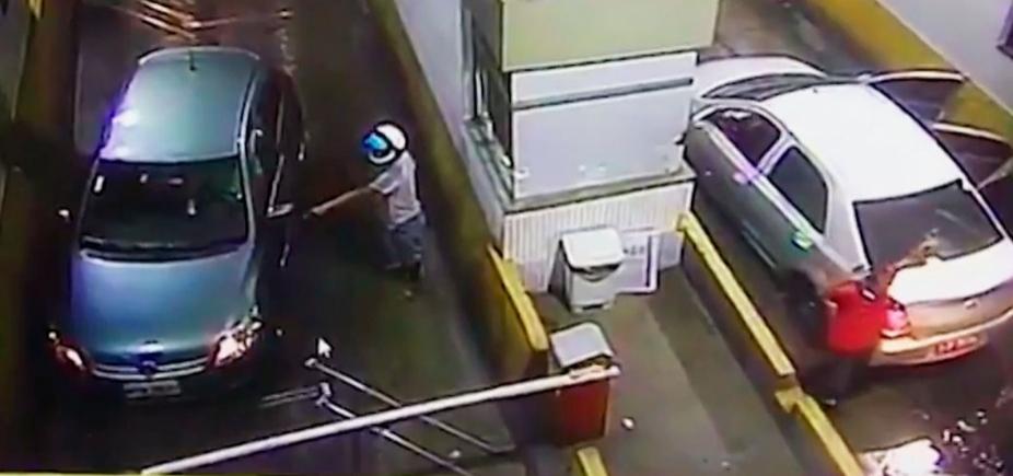[Policial morre após levar tiro em assalto a praça de pedágio em Candeias]