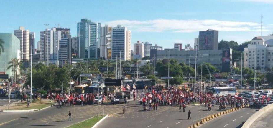[Após ato em Lauro, Moema e manifestantes protestam na região do Iguatemi]