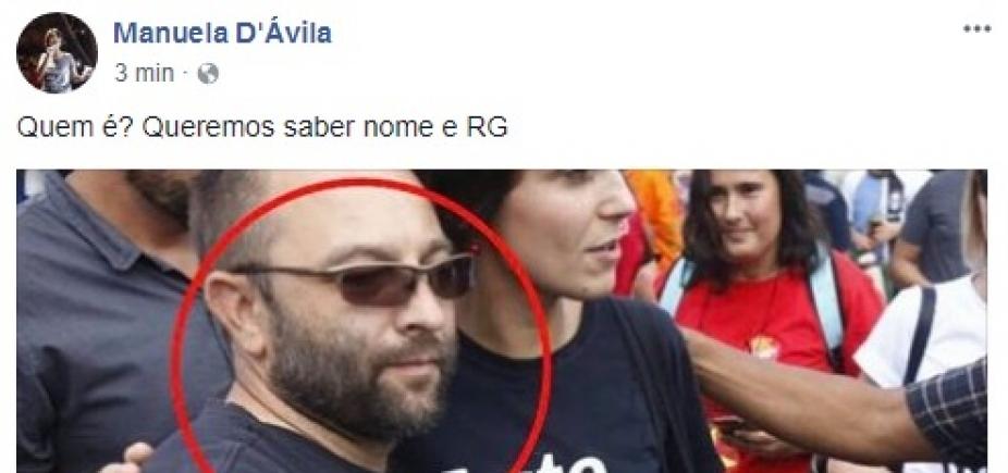 [Manuela DʹÁvila busca seguidor de Bolsonaro que a abordou em frente a prisão de Lula ]