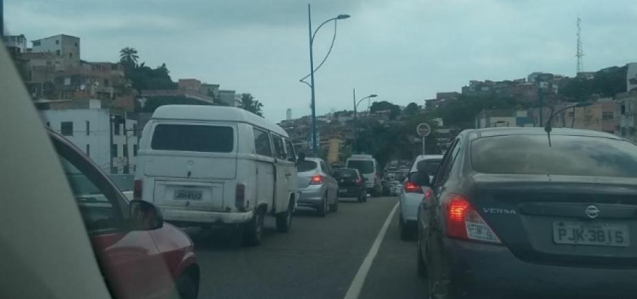 [Trânsito continua complicado nas vias de acesso a Vasco da Gama]