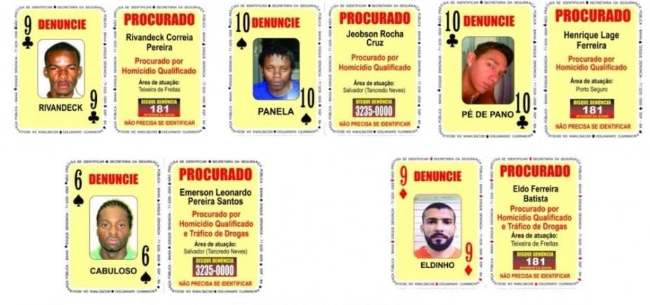 [Baralho do Crime tem oito novos procurados na Bahia; confira nomes]