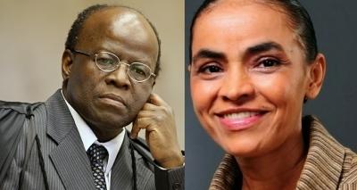 Ex-presidente do STF tenta juntar Marina e Barbosa em chapa presidencial