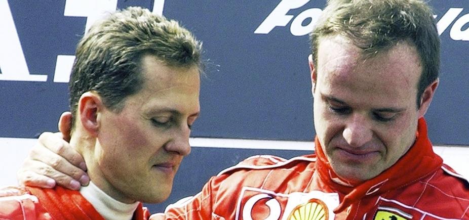 [Rubinho foi impedido de visitar Schumacher pela famĩlia do alemão]