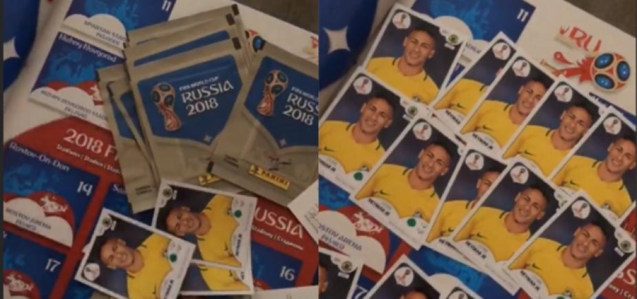 [Quer trocar? Bruna Marquezine ganha álbum da Copa só com figurinhas do Neymar]
