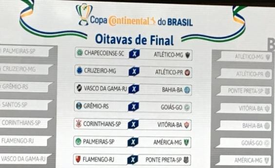 Copa do Brasil: Vitória pega Corinthians; Bahia encara Vasco