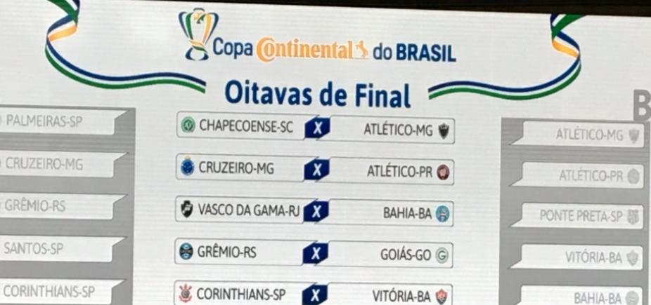 [Copa do Brasil: Vitória pega Corinthians; Bahia encara Vasco]