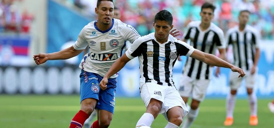 [Com gol no fim, Bahia vence o Santos por 1 a 0 na Fonte Nova]
