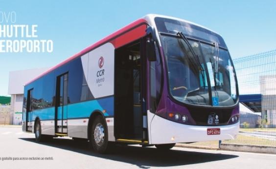Ônibus levará passageiros da estação do metrô ao aeroporto