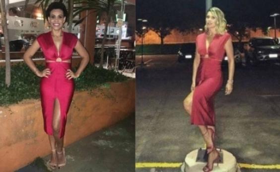 Flávia Alessandra empresta vestido para fã usar em aniversário