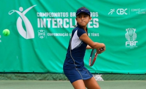 Baiana de 12 anos vence etapa do Campeonato Brasileiro Interclubes de Tênis