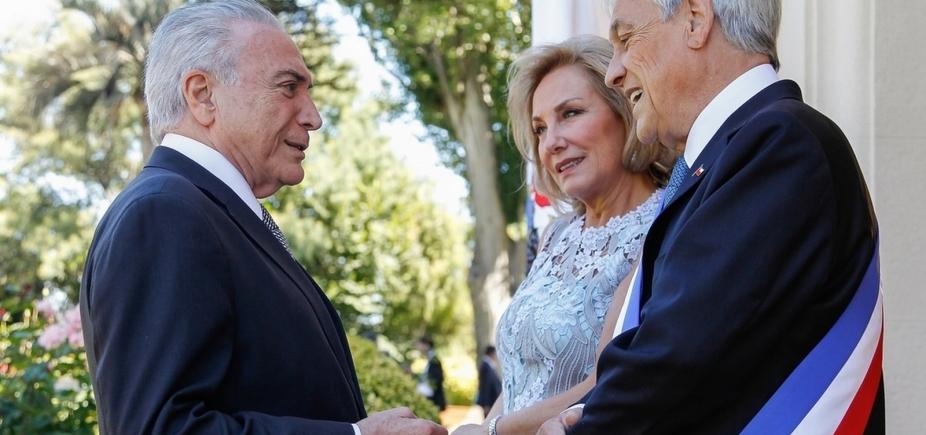 [Temer recebe presidente do Chile, Sebastián Piñera]
