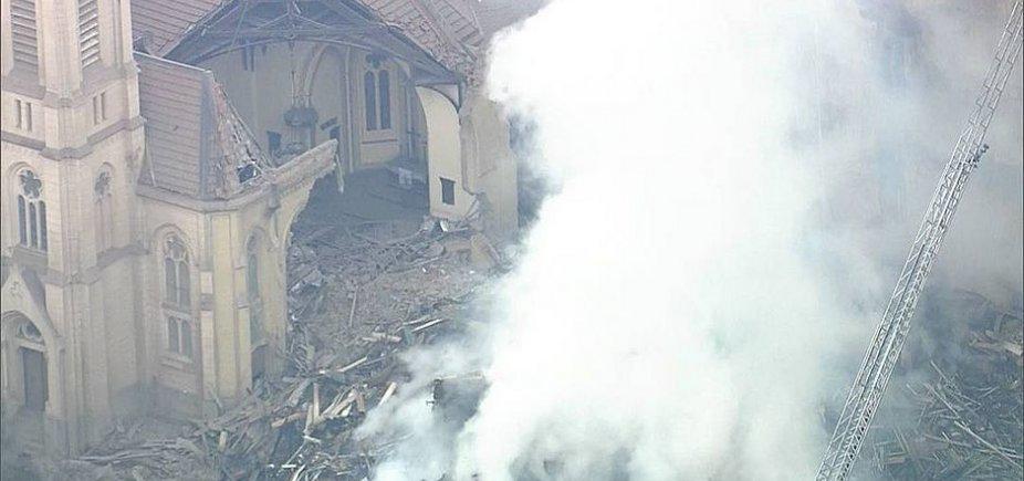 [Igreja luterana com mais de 100 anos foi parcialmente destruída após queda de prédio]