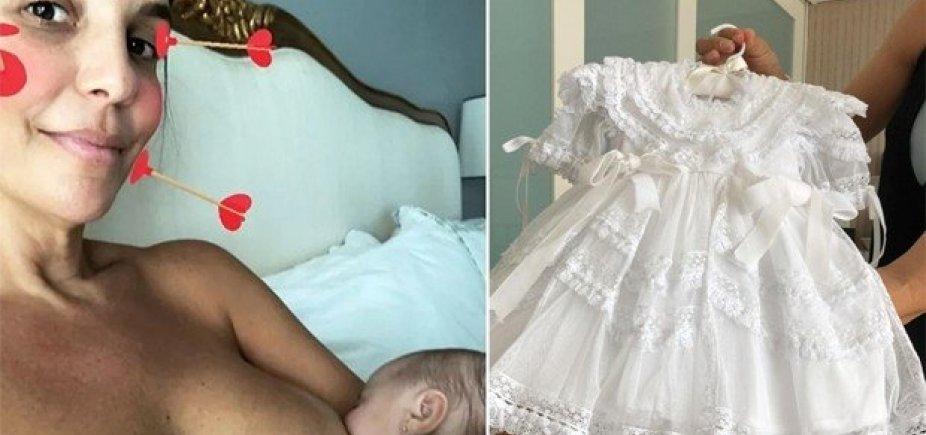 [Ivete mostra roupas do batizado das gêmeas: 'Quanta coisa bonita!']