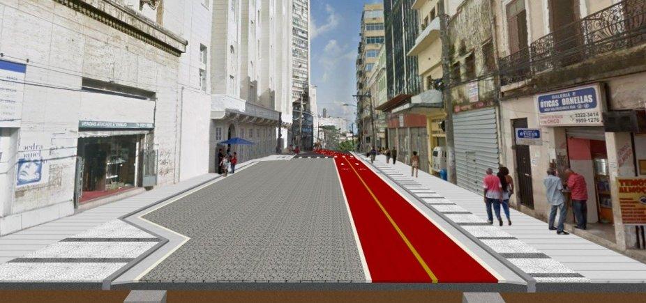 [Rua Chile vai ter rebaixamento da rede elétrica e pavimentação em paralelepípedo]
