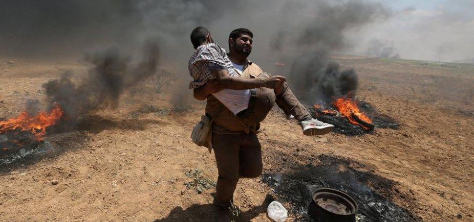 [Fronteira tem confronto com sete mortes antes de inauguração da embaixada dos EUA em Jerusalém]