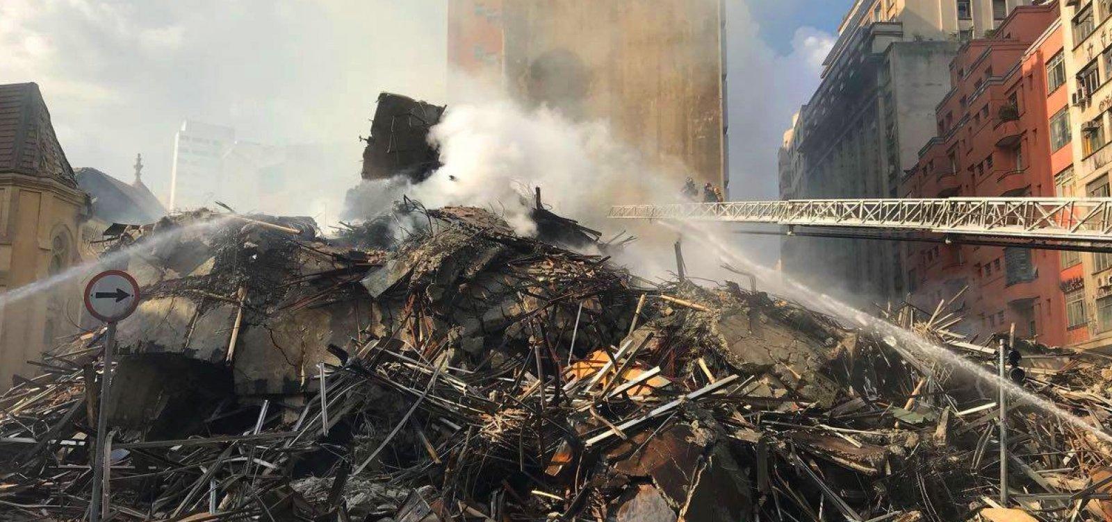[Defensorias pedem R$ 2 milhões em indenização para famílias de prédio que desabou em SP]