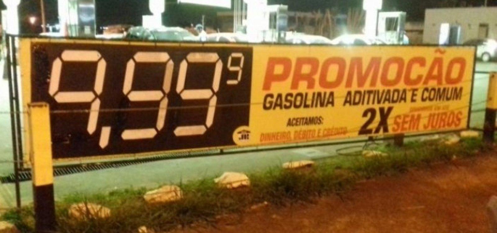 [Litro da gasolina chega a R$ 9,99 no Distrito Federal]