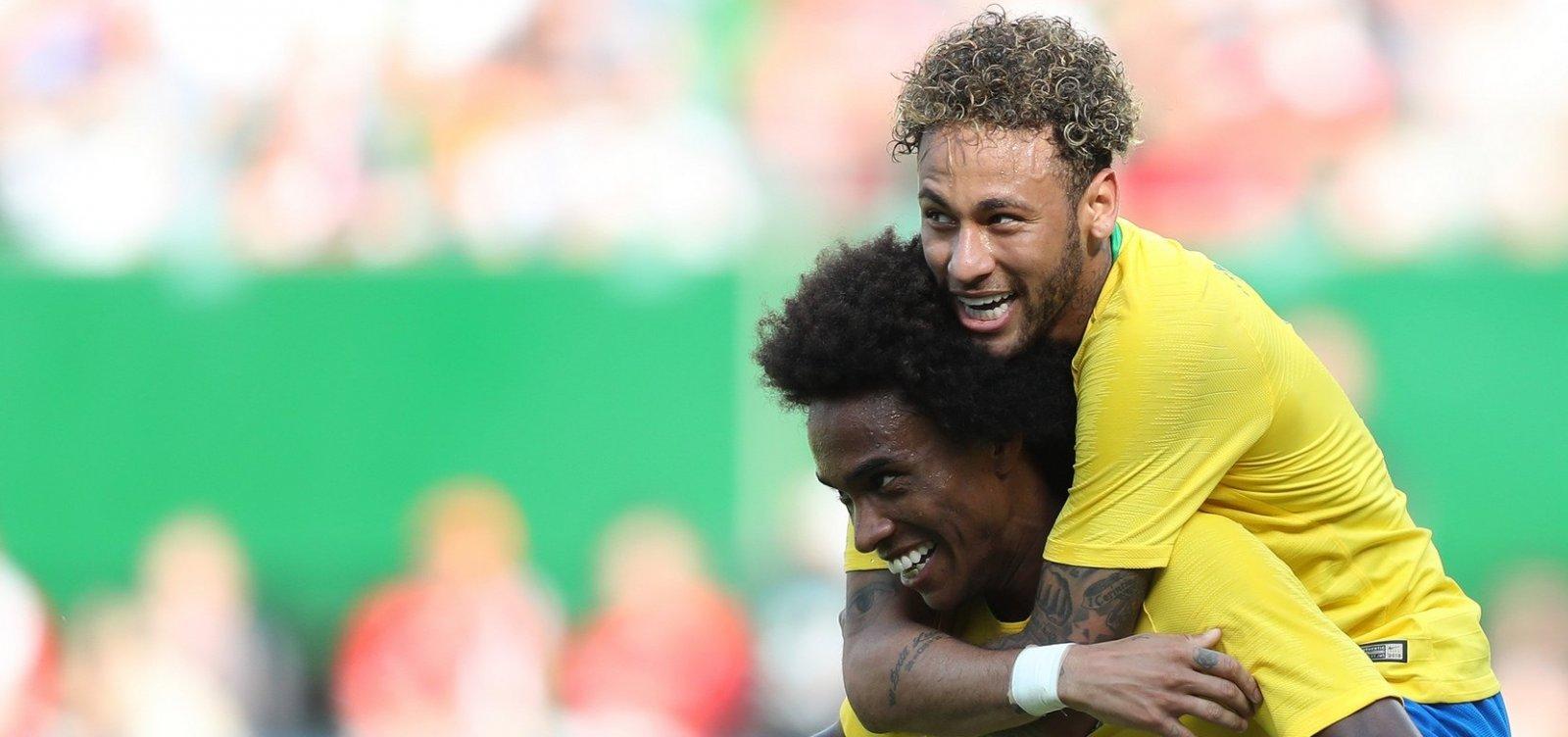 [Com gol de Neymar, Brasil faz 3 x 0 contra a Áustria]