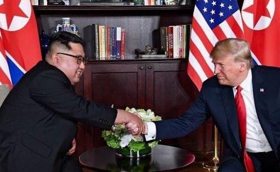 [Trump faz vídeo para convencer Kim de que a história pode ser mudada]