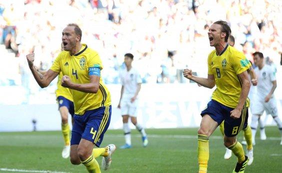 [Em jogo enfadonho, Suécia bate a Coreia do Sul por 1 a 0]