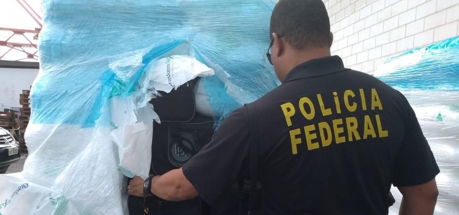 [Polícia Federal apreende cerca de 1,5 tonelada de cocaína no Porto de Salvador]