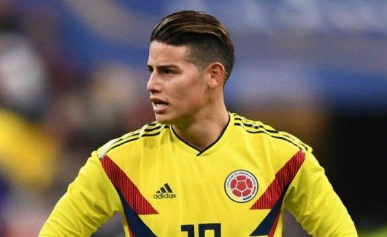 [James Rodriguez é barrado entre os titulares da Colômbia para estreia]