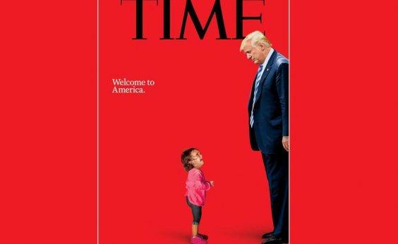 [Trump 'encara' menina imigrante separada da mãe em capa da 'Time']