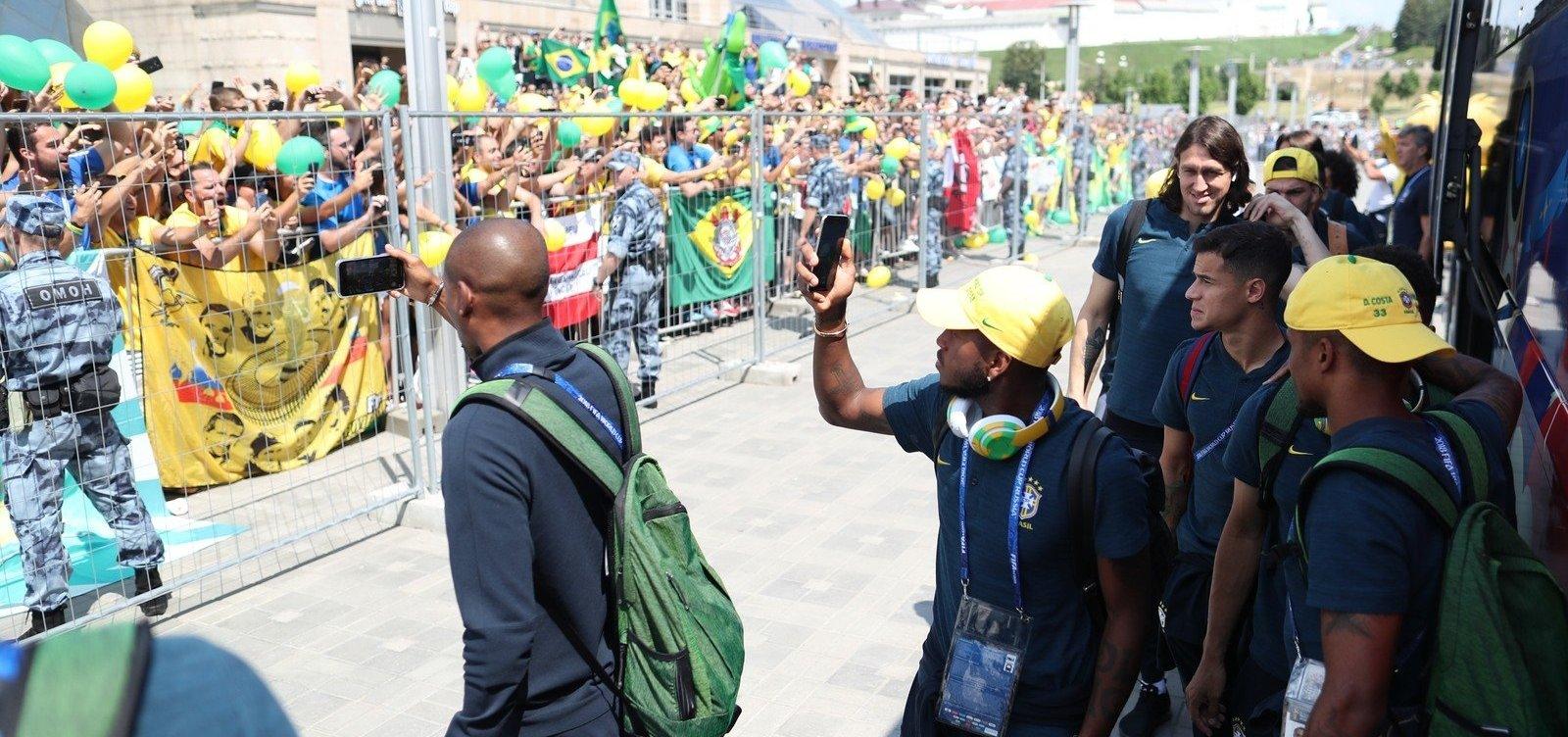 [Seleção Brasileira chega a Kazan para jogo contra a Bélgica]