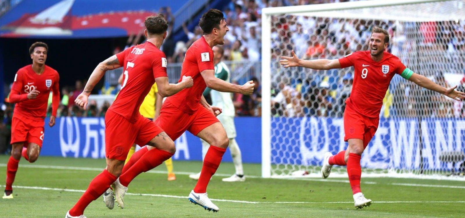 [No alarms and no surprises, Inglaterra vence Suécia e está na semifinal após 28 anos]