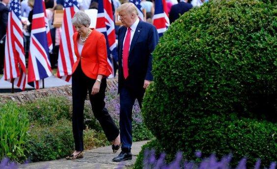 [Trump aconselha Theresa May a processar União Europeia em vez de negociar]