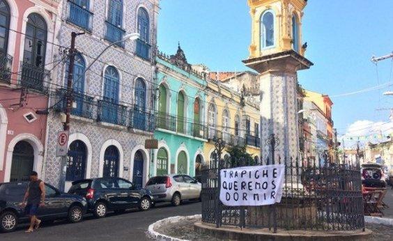 [Moradores de Santo Antônio Além do Carmo protestam contra Trapiche Barnabé: 'Queremos dormir']